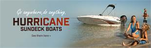 Hurricane SunDeck Boats: Click here to view the lineup.
