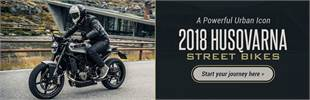 2018 Husqvarna Street Bikes: Click here to view the lineup.