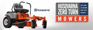 Husqvarna Zero Turn Mowers: Click here to view the models.