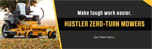 Hustler Zero-Turn Mowers: Click here to view the models.