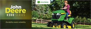 John Deere X300 Series: Click here to view the models.