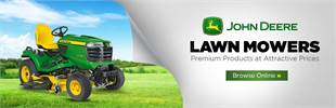 Click here to browse John Deere lawn mowers.