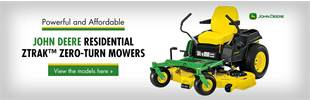 John Deere Residential ZTrak™ Zero-Turn Mowers: Click here to view the models.