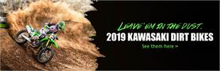2019 Kawasaki Dirt Bikes: Click here to view the models.