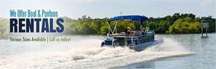 We offer boat and pontoon rentals. Call us today!
