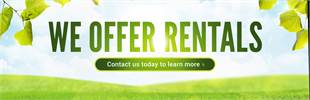 We offer rentals! Contact us today to learn more.