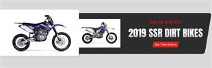 2019 SSR Dirt Bikes: Get up and go. Click here now!