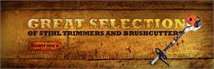 Click here to browse our great selection of STIHL trimmers and brushcutters.