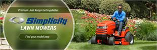 Simplicity Lawn Mowers: Click here to view the models!