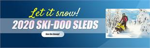 Let it snow! 2020 Ski-Doo Sleds: Click here to view the models.