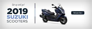 2019 Suzuki Scooters: Click here to view the models.
