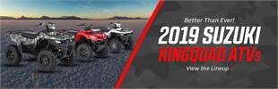 2019 Suzuki KingQuad ATVs: Click here to view the lineup.