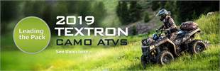 2019 Textron Camo ATVs: Click here to view the models.