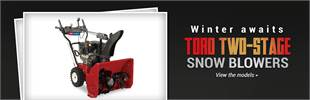 Toro Two-Stage Snow Blowers: Click here to view the models.