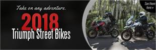 2018 Triumph Street Bikes: Click here to view the models.