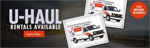 U-Haul Rentals Available: Inquire today!
