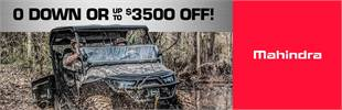 GET UP TO $3500 OFF ON ALL UTV'S