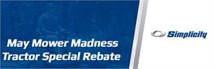 May Mower Madness Tractor Special Rebate