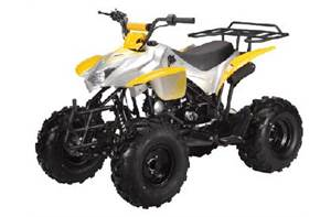 2018 125H SPORT ATV YELLOW AND SILVER