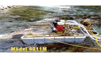 "6"" Gold Dredge with Twin 6.5HP Honda & T80 Compressor"