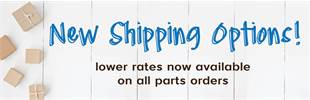 New Shipping Options for Parts Orders!