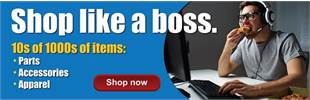 Shop like a boss. 10s of 1000s of items: Parts, Accessories, Apparel. Shop now.