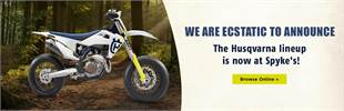 We are ecstatic to announce the Husqvarna lineup is now at Spyke's!