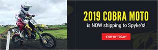 2019 Cobra Moto is now shipping to Spyke's!