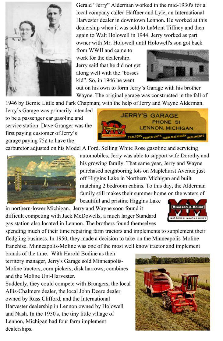 The History about Jerry's Garage