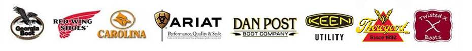 We carry products from Ariat, Carolina, Twisted X, Thorogood, Justin, Keen, and Georgia Boot.