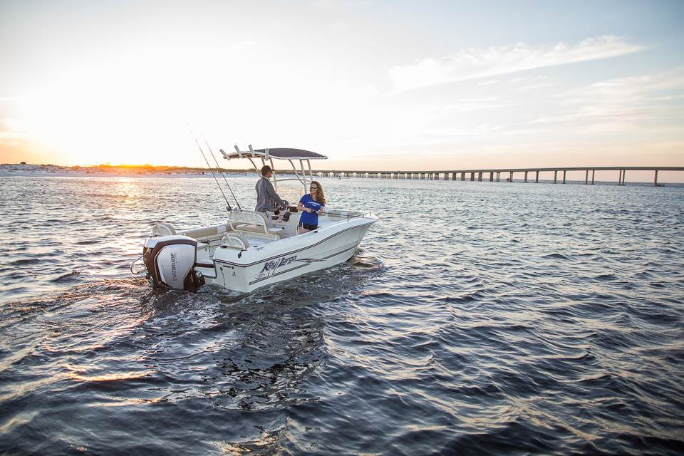 175 HP Evinrude E-TEC G2 - Key Largo Offshore Boat
