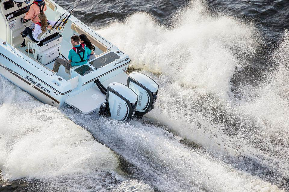 Twin 250 HP Evinrude E-TEC G2 - Key Largo Offshore Boat (1)