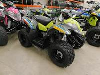 2019 Polaris Industries OUTLAW 50, AVALANCHE GREY/LIME SQUEEZE
