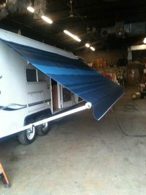 Finish of RV AWNING