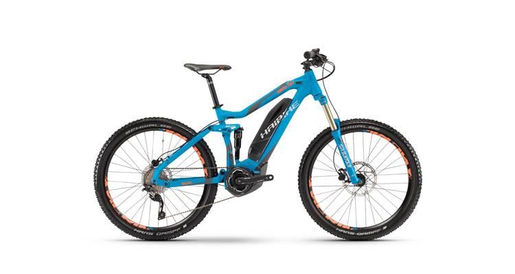 Blue Haibike SDURO electric bike