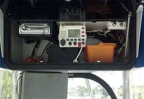 Electronics Box T Top Installation Portside Marine Orlando FL Boat Engine Repair