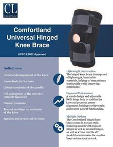 Universal Hinged Knee Brace