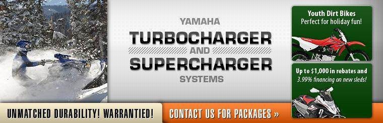 Click here to contact us about Yamaha turbocharger and supercharger system packages!