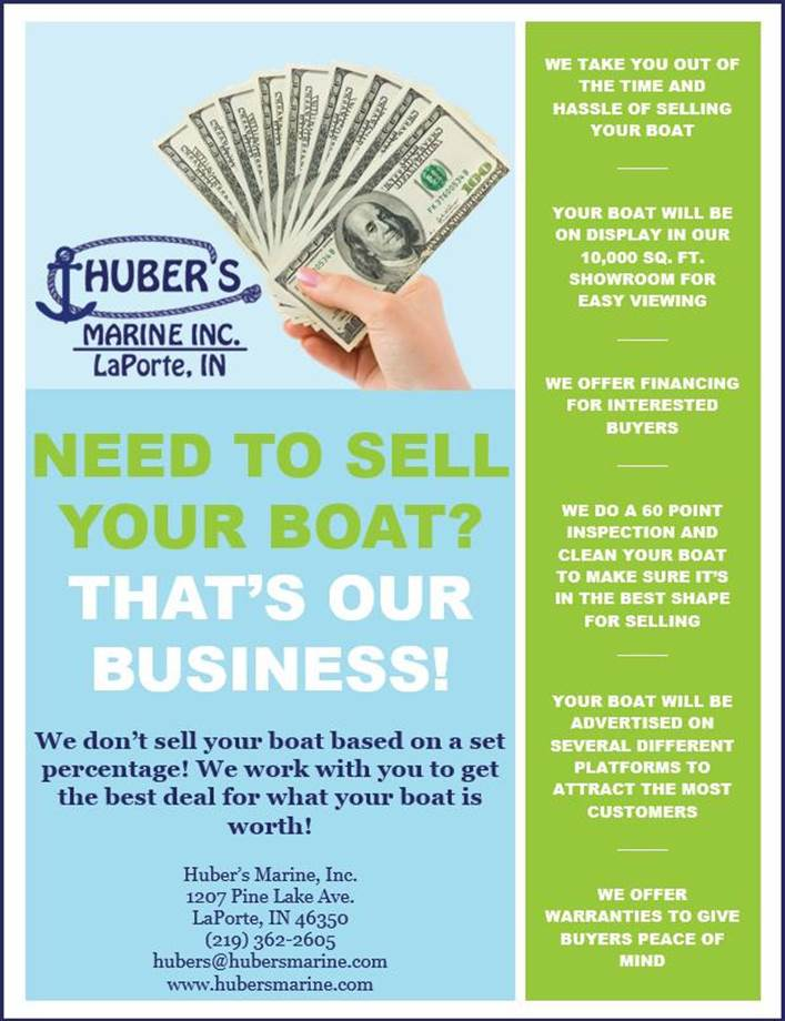 Sell you boat with Hubers