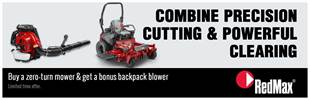 Limited time offer. Buy a zero-turn mower & get a bonus backpack blower. Click here to find out more