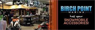 Birch Point Marina has your snowmobile accessories!