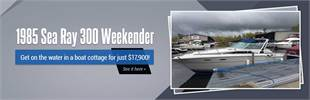 1985 Sea Ray 300 Weekender: Get on the water in a boat cottage for just $17,900!