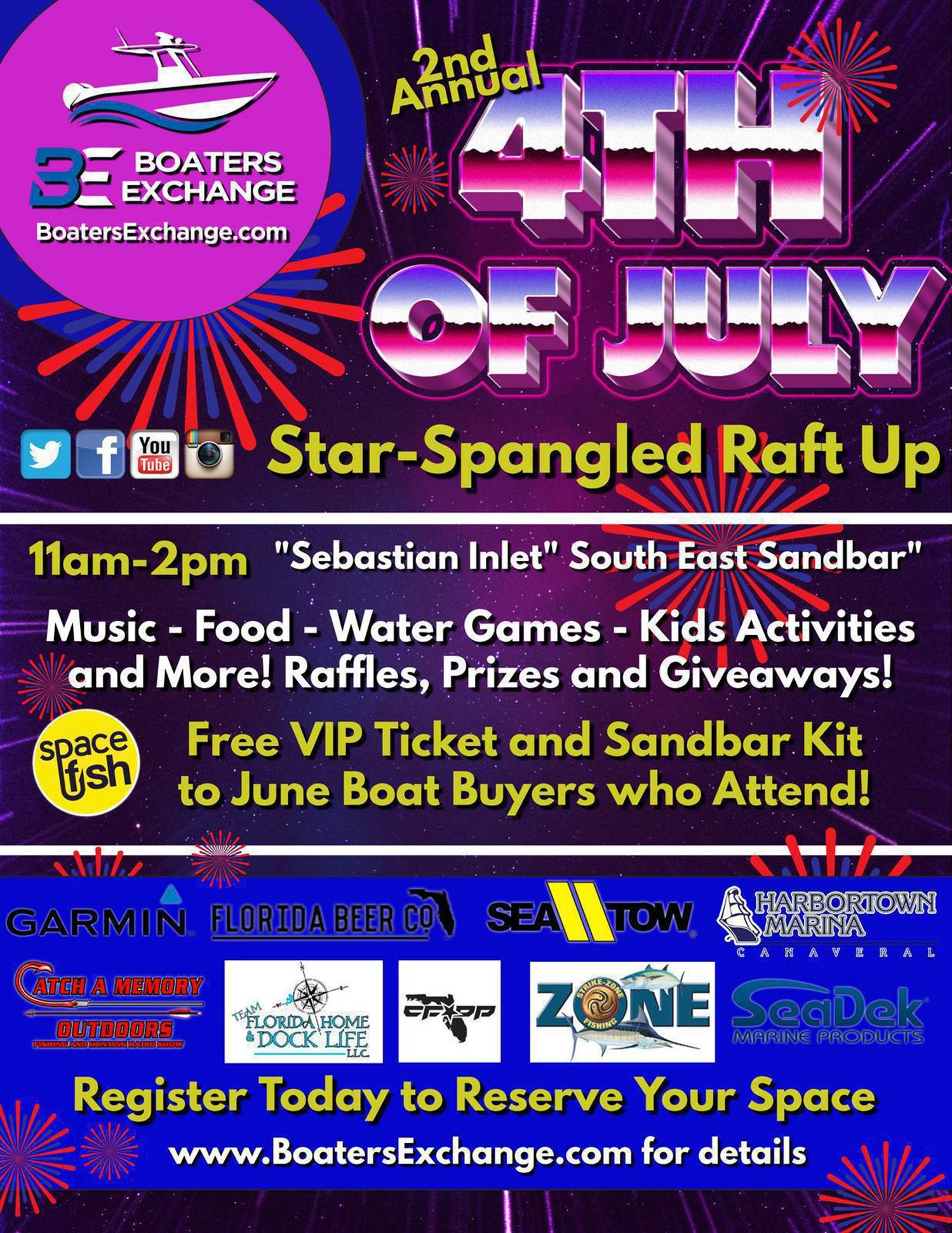 20190522 Star Spangled Raft Up Flyer