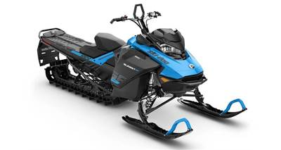 Blue Example Snowmobile