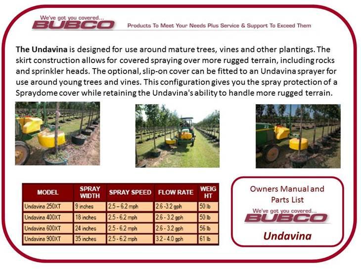 Bubco technical information