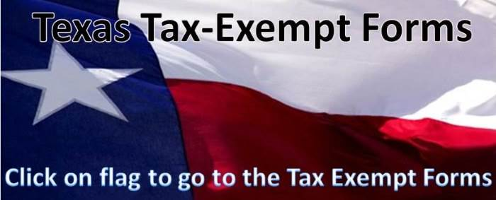 Texas Tax-Exempt Forms