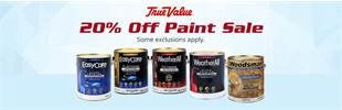 20% Off Paint Sale: Contact us for details.