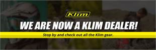 We are now a Klim dealer! Stop by and check out all the Klim gear.