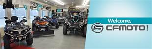 We carry CFMOTO ATVs and side x sides!