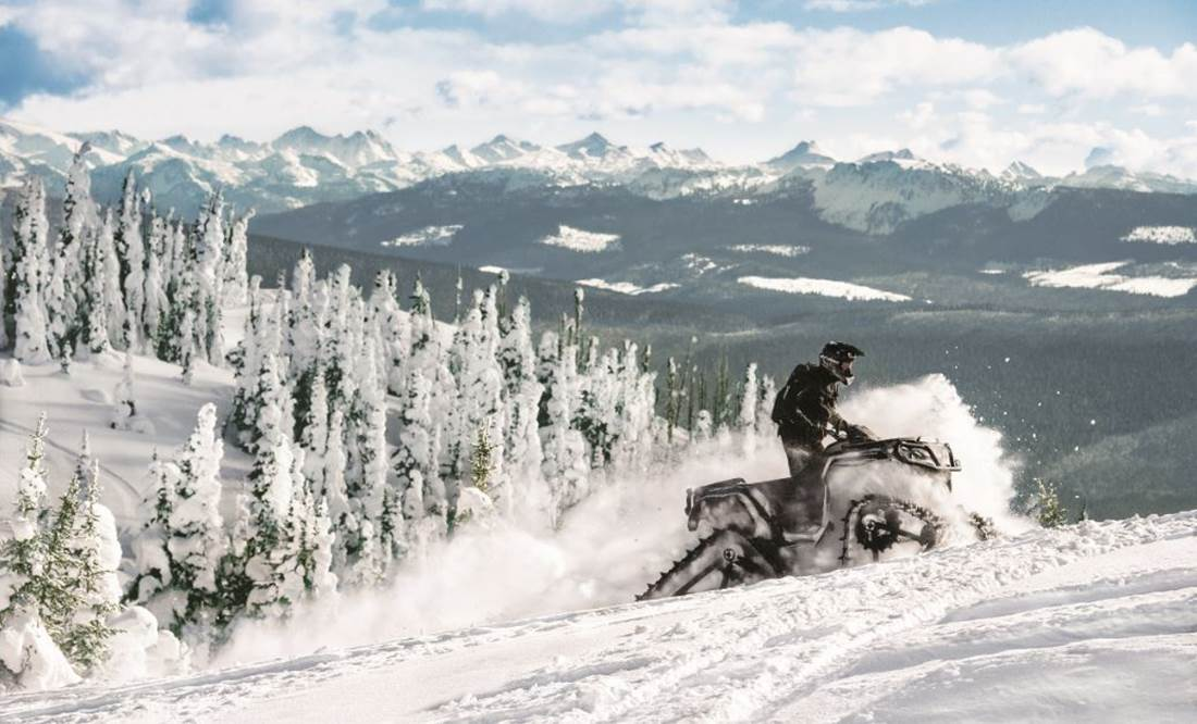 Snow Can-Am ATV Riding in the Winter